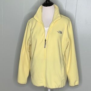 The North Face Light Yellow Zip Up Jacket XL